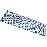 Leinsamenkissen 20x50cm groß 3-Kammer blau-weiß; Wärmekissen, Körnerkissen preisvergleich bei billige-tabletten.eu