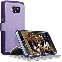 Galaxy S7 Edge Housse, Terrapin Étui Housse en Cuir Ultra-mince Avec La Fonction Stand pour Samsung Galaxy S7 Edge Coque Cuir - Violet