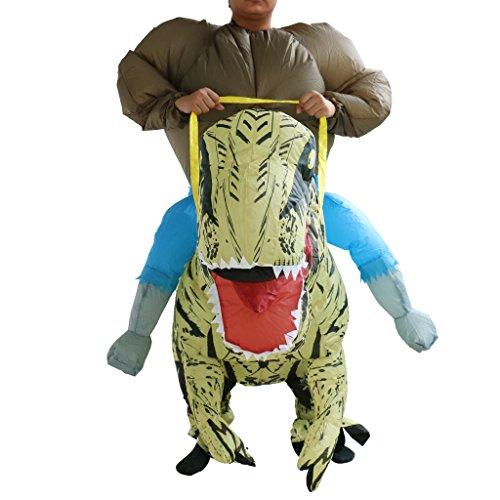 Gazechimp Aufblasbar Blowup Dinosaurier Reiten Kostüm Ganzanzug Suit Halloween Abendkleid (Kostüme Reiten Dinosaurier)