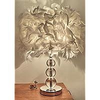 Stile Europeo da letto Soggiorno studio The Feathers Lampada da tavolo romantiche lampade calde moderno semplice creativo Comodino Desk Lamp ( colore : Bianca )