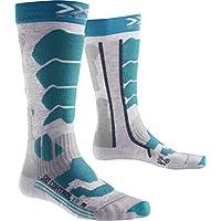 X-Socks Mujer xski Control 2.0Lady skistrumpf, Mujer, SKI Control 2.0 Lady, Medium Grey Melange/Turquoise