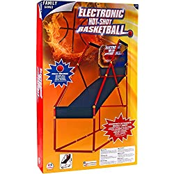Family Games - Baloncesto con pilas con marcador, música con canasta y pelota (Globo 37390)