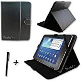 "Black PU Leather Case Cover Stand for HANNSPREE HANNSPAD 10.1"" 10.1 inch TABLET PC + Stylus Pen"