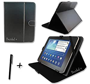 Bestdeal® Noir PU Cuir Étui-Support Housse en pour HP Pavilion x2 10-j000na & 10-j002na & 10-k000ng & 10-k001ng & 10-k007na & 10-k080ng 10.1 inch pouce Tablette PC + Stylet