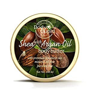 Body Cupid Shea and Argan OIl Body Butter with Shea Butter, Argan Oil, Honey and Aloe Vera Extract - 200 ml