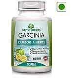NUTRIHERBS Garcinia Cambogia Herbs 70% HCA Extract - 800mg (60 Veg Capsules)