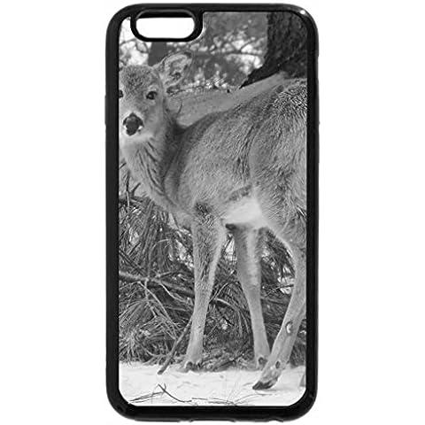 6S-Cover per iPhone Plus, iPhone 6 Plus Case & bianco (nero), motivo