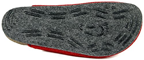 TWEED Bio feltro pantofola sottopiede e ABS sentivo unica 36-48 Rosso