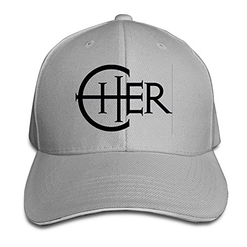 Cool Adjustable MDLWW Cher Logo Sandwich Logo Hat -  Grey -
