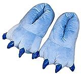Adulto Niños Suave Terciopelo Garra Animal Unisex Espesar Calido Zapato Zapatilla (Los niños EU:29-34, Blue)