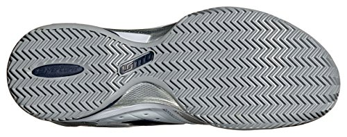 Lotto Sport Raptor Lth Cly, Chaussures de Tennis Homme Weiß (white/blue aviator)