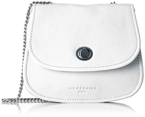 Liebeskind Berlin Damen Panama Panavi Umhängetasche, Weiß (White), 5x16x14 cm (Handtasche Leder Baguette)