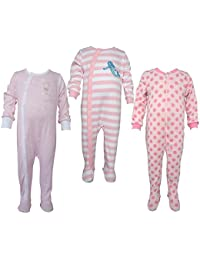 Teddy's Choice 100% Cotton Multi color 3 Combo Kid's Romper for 6-9 Months :Modle-06