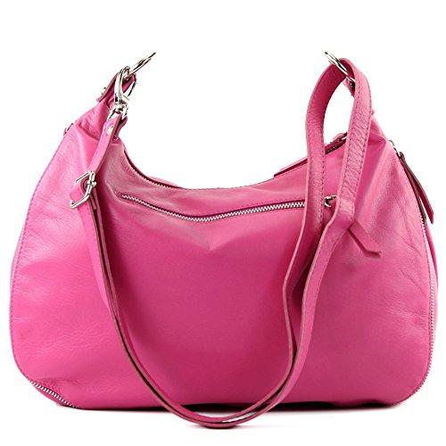 modamoda de – italiano Borsa in pelle borsa a tracolla borsa donna borsa a tracolla in nappa T56 Pink