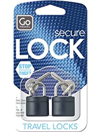 Go Travel Design Go Cadenas laiton Paquet de 2 Revêtement noir
