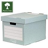 Fellowes 4481301 Style Lot de 4 Boîtes de rangement Vert/Blanc