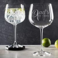 Personalised Gin and Tonic Glass gift for Dad/daddy gifts gin/Personalised engraved Gin Glasses for Men/birthday present for him