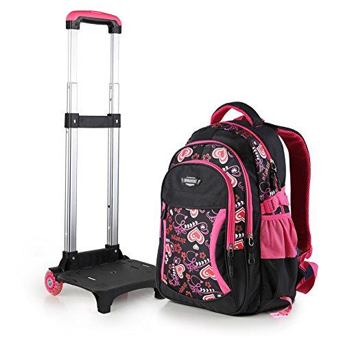Zaino borsa trolley scuola viaggio computer tablet pc libri colore rosa nero