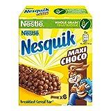 Nesquik Maxi Choco Barrette di Cereali al Cioccolato e al Latte, 6 Pezzi