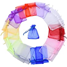Mudder Multicolore Organza Sacchetti Regalo Buste di Nozze Favore per Gioielli 100 Pezzi, Piccole