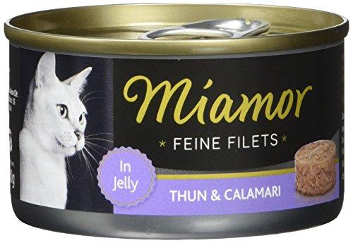 Miamor Katzenfutter Feine Filets Thunfisch+Calamaris 100 g, 24er Pack (24 x 100 g)