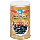 Marmarabirlik Mega - natürlich fermentierte schwarze Premium Oliven ohne Konservierungsstoffe (Abtropfgewicht 800g)