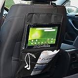 600D Wasserdicht Oxford Tuch Rückenlehnenschutz Autositz Rückseite PVC Folie Utensilientaschen Auto großen iPad-/Tablet-Halter Sitzlehne Aufbewahrungstasche Organizer Speicher, Schwarz