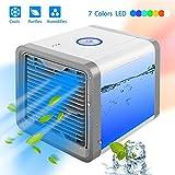 XHHXPY 3 in 1 Air Cooler Personali Climatizzatore Portatile Piccolo Ventilatore Raffreddatore Mini Condizionatore Portatile Raffreddatore d'Aria,Termoventilatore Elettrico con Anti-Surriscaldamento