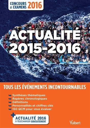 Actualit 2015-2016 - Concours et examens 2016 - Tous les vnements incontournables