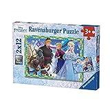 Ravensburger–Pack 2Puzzles Spiele Winter Eiskönigin 12-teilig, 07621