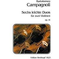 EDITION BREITKOPF CAMPAGNOLI BARTOLOMEO - SECHS LEICHTE DUOS OP. 14 - 2 CELLO Partition classique Cordes Violoncelle