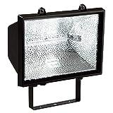 as - Schwabe Halogenstrahler - 1000 W Halogen-Fluter geeignet als Baustrahler / Arbeitsleuchte – Energieklasse E - Halogenspot inklusive Leuchtmittel - Leuchte für den Außenbereich - Schwarz I 44100