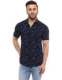 Mufti Mens Classic Collar Printed Shirt