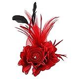 saianke Charming Mesh Feder Haar Clip Frauen Mädchen Haarspange Cocktail Party Flower Haarspange Fascinator Hat
