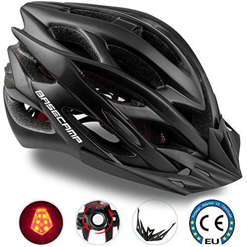 Basecamp Specialized Fahrradhelm, CE-Zertifiziert, Einstellbar Sport Fahrradhelm Fahrradhelme für Straße & Berg für Männer & Frauen, Sicherheitsschutz (schwarz)