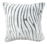 Soleil d'ocre 527384 Savane Housse de Coussin Extra Doux Polyester Gris 40 x 40 cm