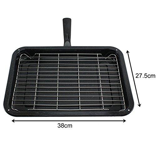 spares2go Kleine Grillpfanne, Rack & abnehmbarer Griff für LG Ofen Kochfeld (Ofen-rack Lg Für)