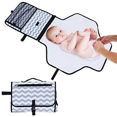 Rovtop Cambiador Portátil de Pañales para el bebé Kit Cambiador de Viaje bolso plegable de viaje Para llevar las cositas del bebé