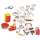 Negi 24pcs Mini Stainless Steel Utensils Non Toxic Indian Kitchen Set Great Kitchen Toys for Girls (Kid's Love Kitchen Set) ( It Has Sharp Edges Not Suitable for Small Baby )