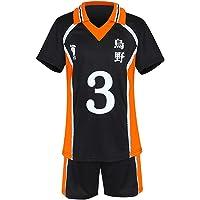 TUMUSKER Haikyuu Costume Cosplay Scuola Superiore Pallavolo Team Uniform T Shirt e Shorts per Karasuno Sportwear Jersey