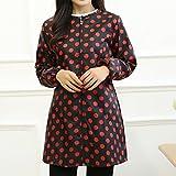 le tablier de cuisine et des vêtements à manches longues combinaisons étanches du chemisier de la protection 'des adultes,fond noir red dot / xxl