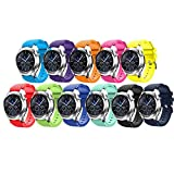 Tabcover Smart Watch Bracelet,11 Colors 22mm Soft Silicone Sports Replacement Strap for Samsung Gear S3 Frontier/Classic Watch