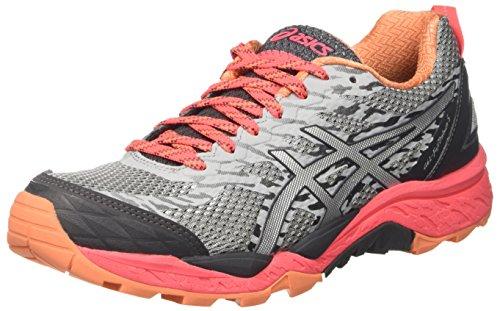 Asics Gel-Fujitrabuco 5, Zapatillas de Correr Mujer, Gris Midgrey/silver/diva Pink, 35.5 EU