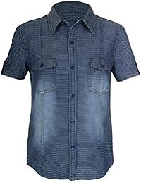 Naughty Ninos Boys Denim Washed Short Sleeve Shirt For 2 to 14 Years
