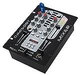 Ibiza DJM150USB-BT 4 DJ-Mischer 4-Kanal-Mischpult Mixer (USB, Bluetooth, MIC) schwarz