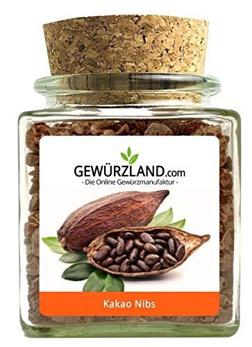 Kakao Nibs | Kakaobohnen-Stückchen | 100% Rohkost Qu. im Korkenglas