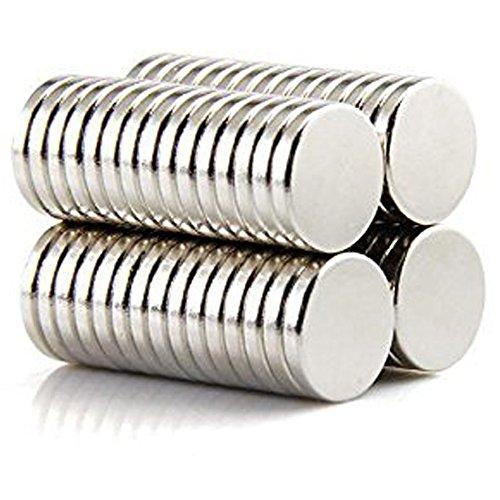 Neodym-Magnet Kühlschrankmagnet Leistungsstarke Magneten Runde Magnete N52 Kleiner Vielseitiger Magnet für Magnetkarten, Kühlschrank, Kunst, Kunsthandwerk, DIY, Büro, Haus und Küche 100 Stück 5x1mm