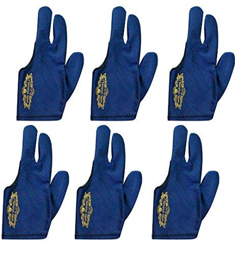 Champion Sport dunkelblau links Hand Billard Handschuhe für Pool Queues–tragen auf der linken Hand, drei kaufen einen Gratis Approx. 0.71 inch/1.8cm 6 Pool Gloves