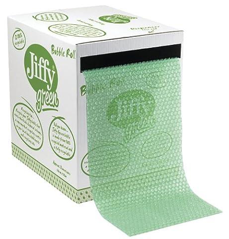 Jiffy Green Recycled Bubble Dispenser Box, 300mm Wide x 50m Long (Single Box)