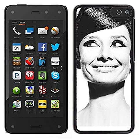Smartphone Hard PC Case Protective Cover for Amazon Fire Phone / Phone Case TECELL Store / Audrey Actress Black White Classic Portrait